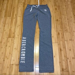 abercrombie cute stretch logo sweat pants kids XL
